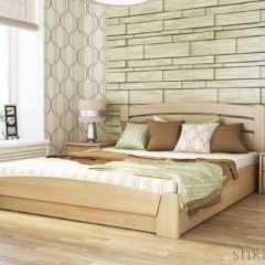 """Кровать деревянная """"Селена Аури"""" с подъемным механизмом"""